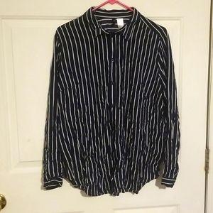 Divided Size 12 Navy/White Shirt